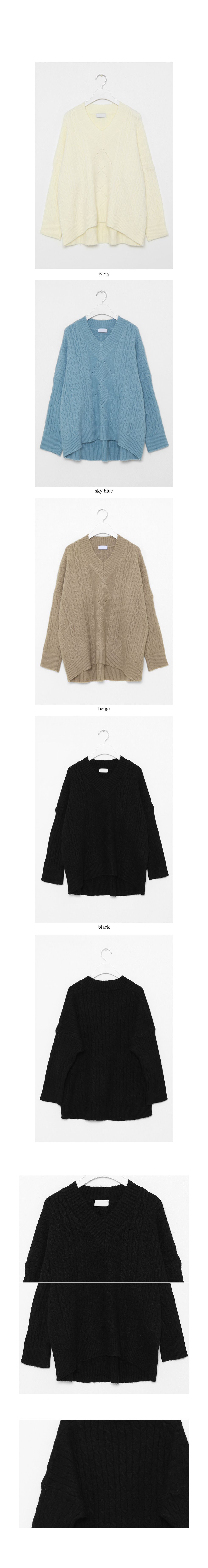 twist v-neck knit top