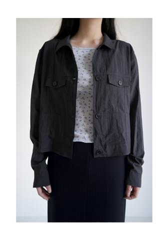 dry crop shirt jacket (3colors)