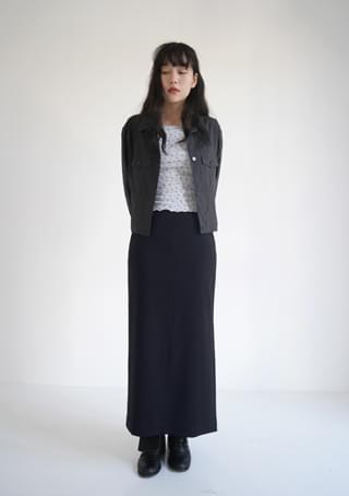 side slit classic skirt (3colors)