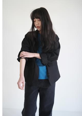 casual clean hidden button jacket (2colors)