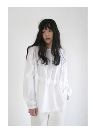 puff string detail blouse (2colors)