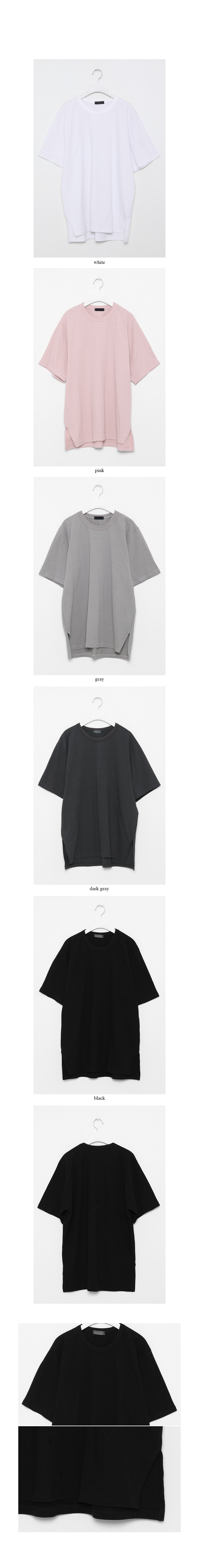 cotton loose half t-shirt