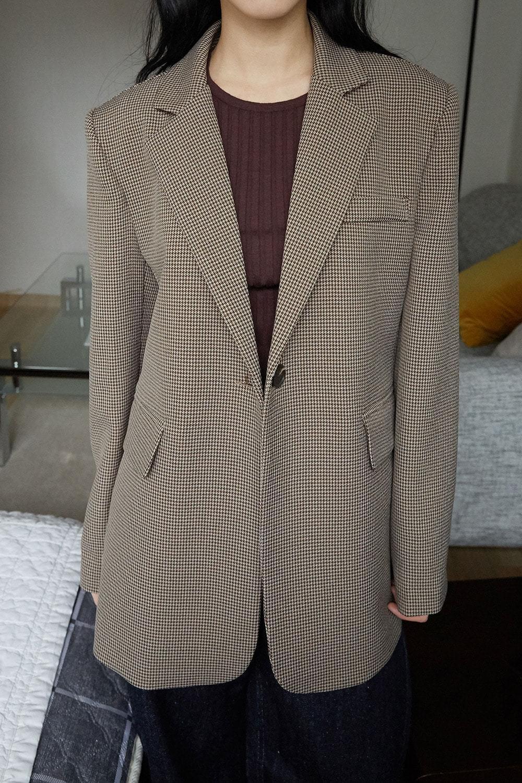 minimal check jacket