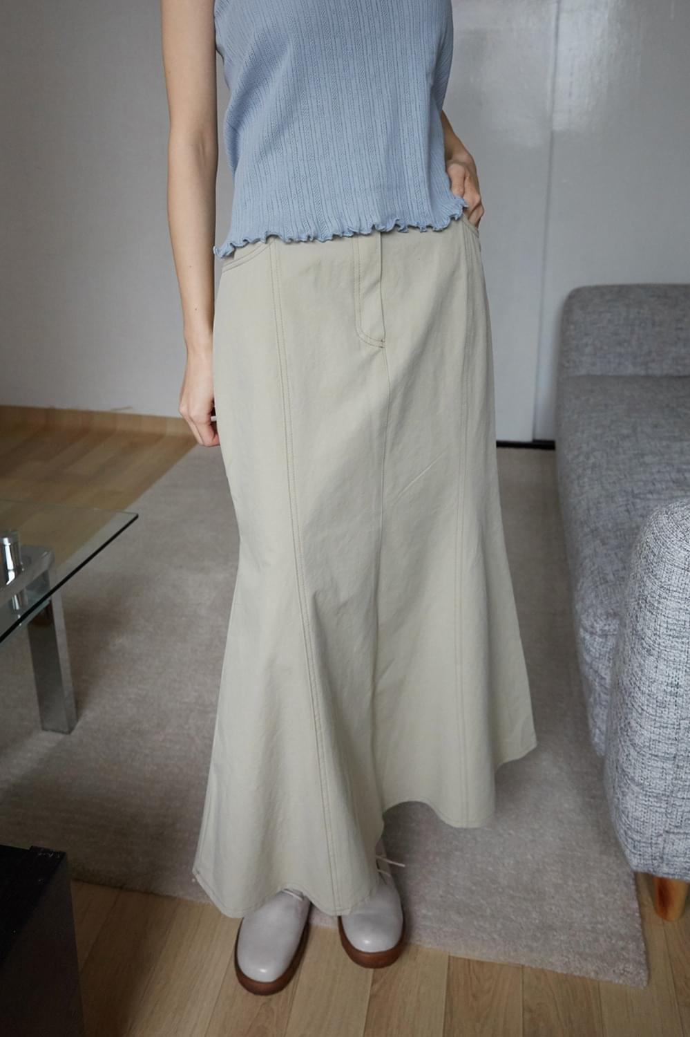 maxi loose skirts (2colors)