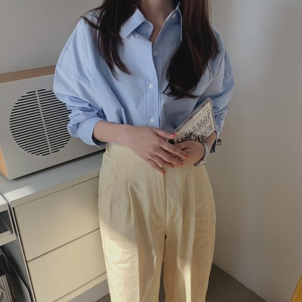 Ribsen cotton shirt