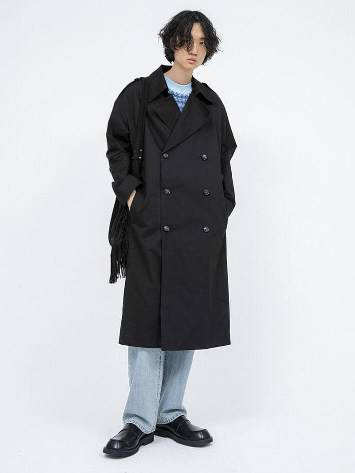 wearable double trench coat (3 color) - men