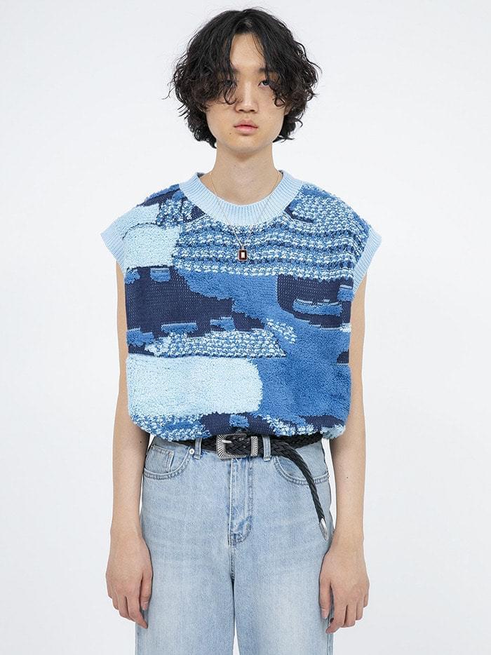 vintage knit vest - men 開襟衫 & 背心