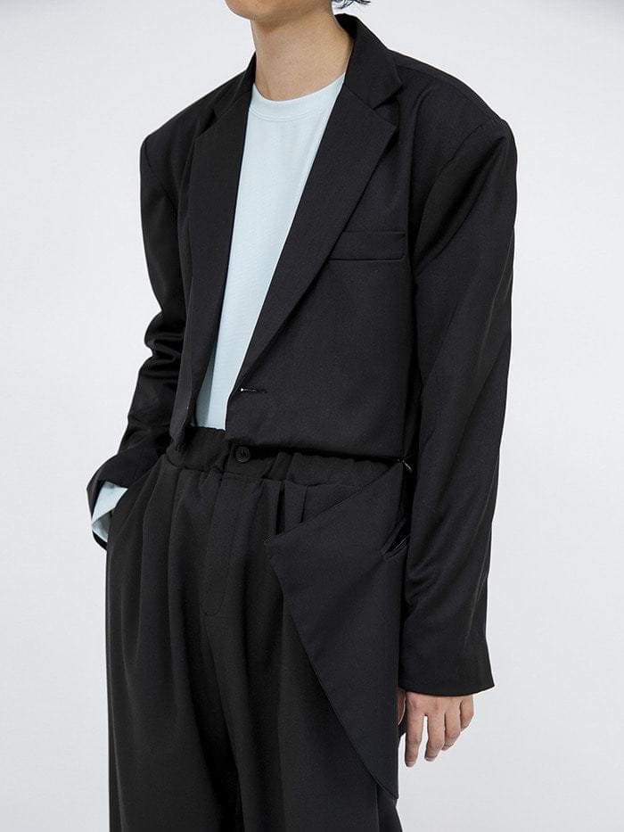 zipper cut single jacket - men 夾克外套