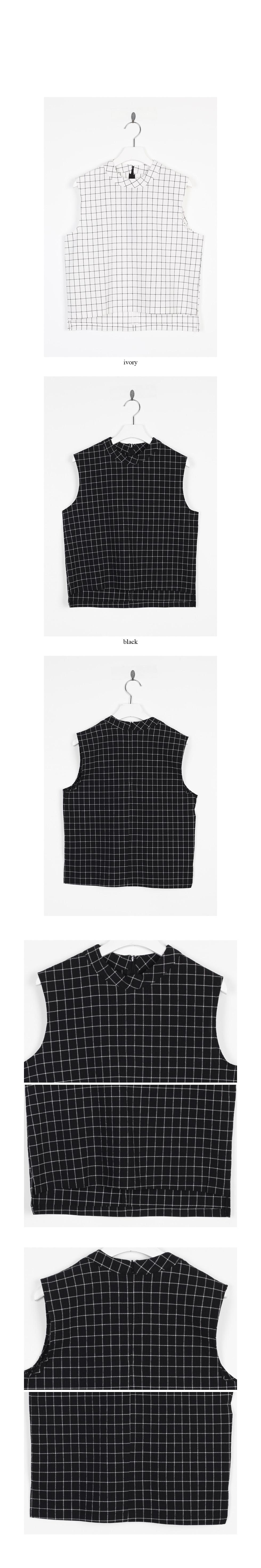 light cozy check sleeveless