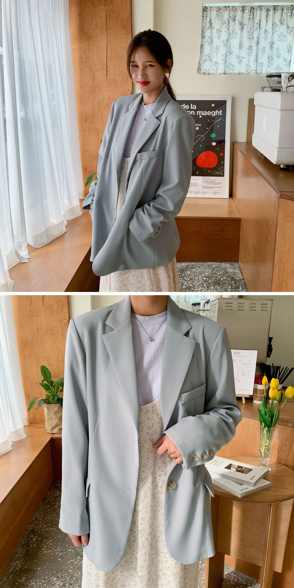 Daily overfit two-button jacket