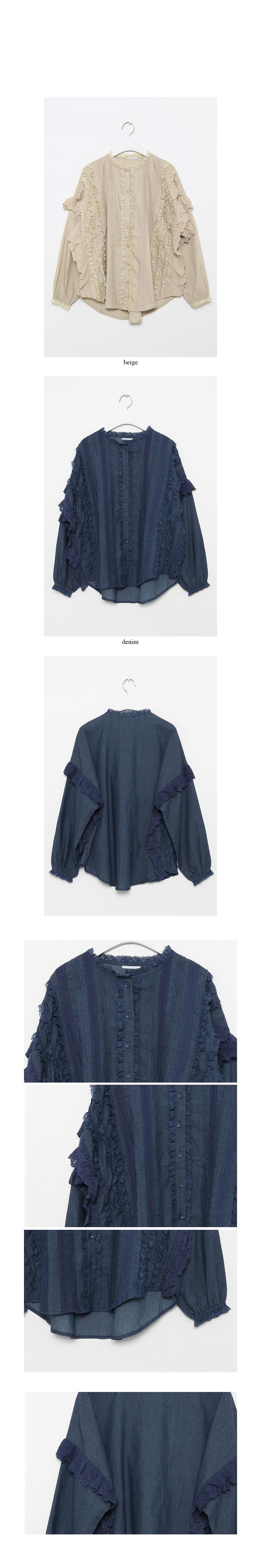 lace bust line blouse