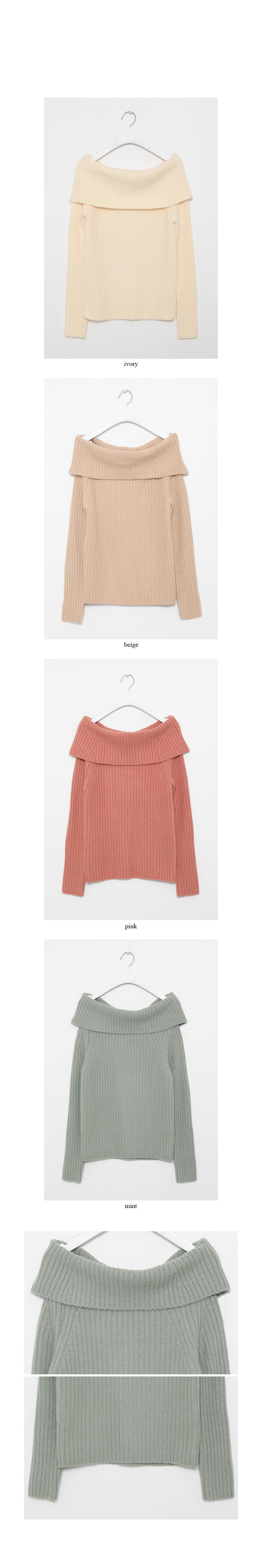 off-shoulder golgi knit