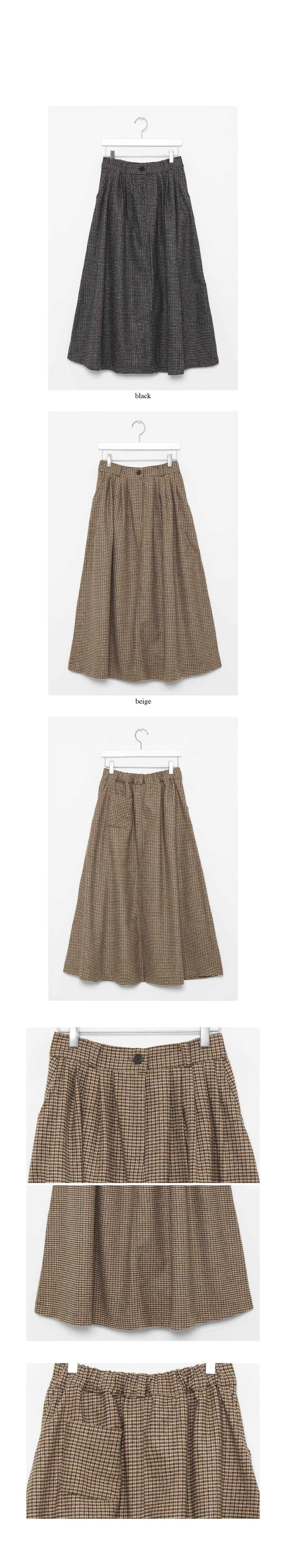 basket check flair skirts