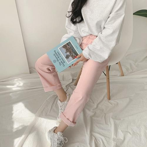 밀티다잉와이드팬츠-은은한 파스텔계열로 부담없이 편하게 스타일하기 좋아요♥