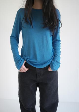 basic soft light wool top (5colors)