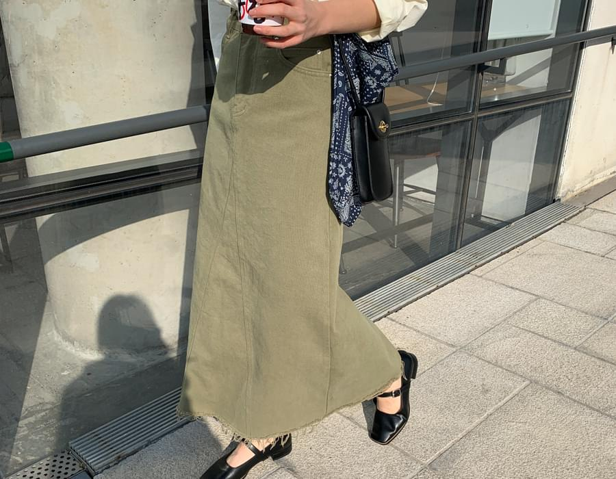 Lucy cotton long skirt_C