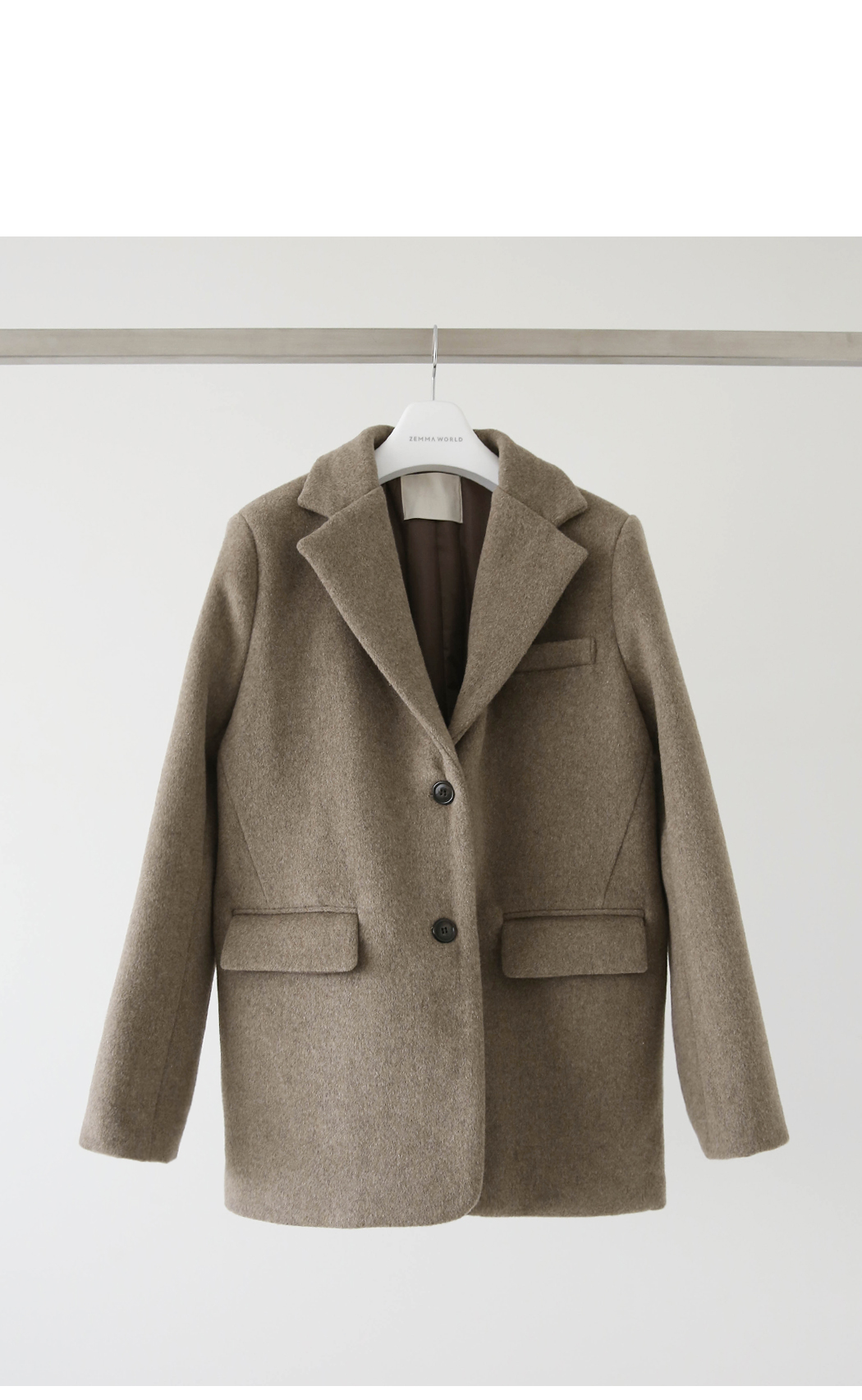 Mocha Mohair Belt Short Coat