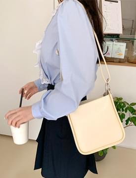 Unique square shoulder bag_J (size : one)