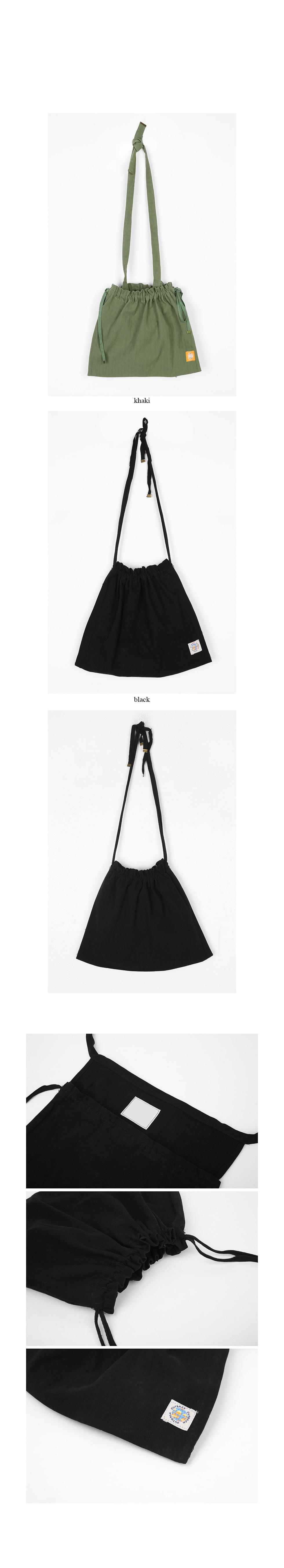 daily cotton bucket bag
