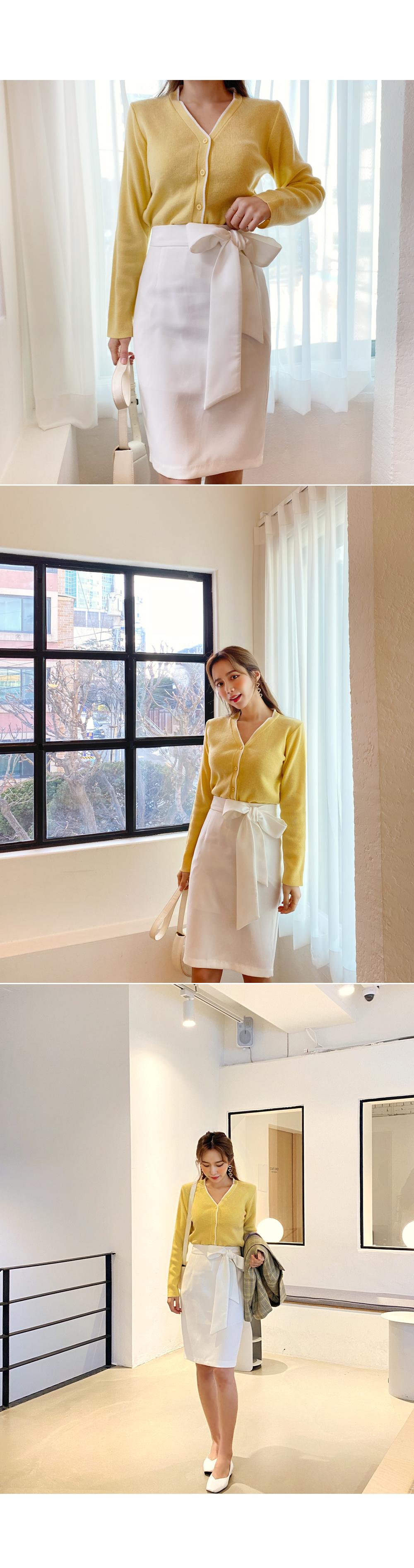 MatureAllure RibbonMidi Skirt