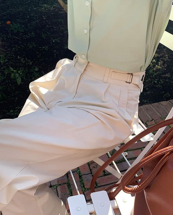 in bizzo wide cotton pants