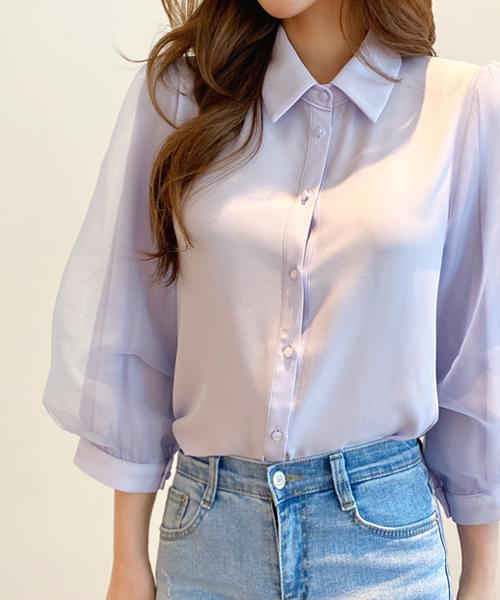 Leeds Feather Puff Blouse