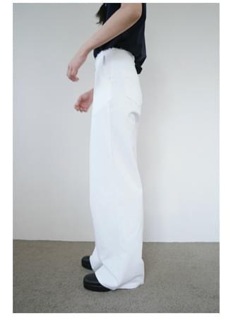 natural maxi cotton pants (2colors)