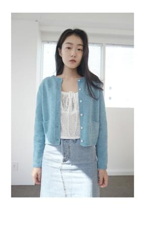 soft round wool cardigan (3colors)