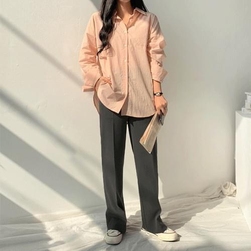 파스텔바이오워싱셔츠 - 은은한칼라감과 루즈한 핏이 돋보이는 셔츠