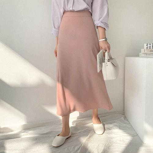 Romance Flare Long Skirt-S / S color is all gathered ~ Long flareline is good for body cover '0'b skirt