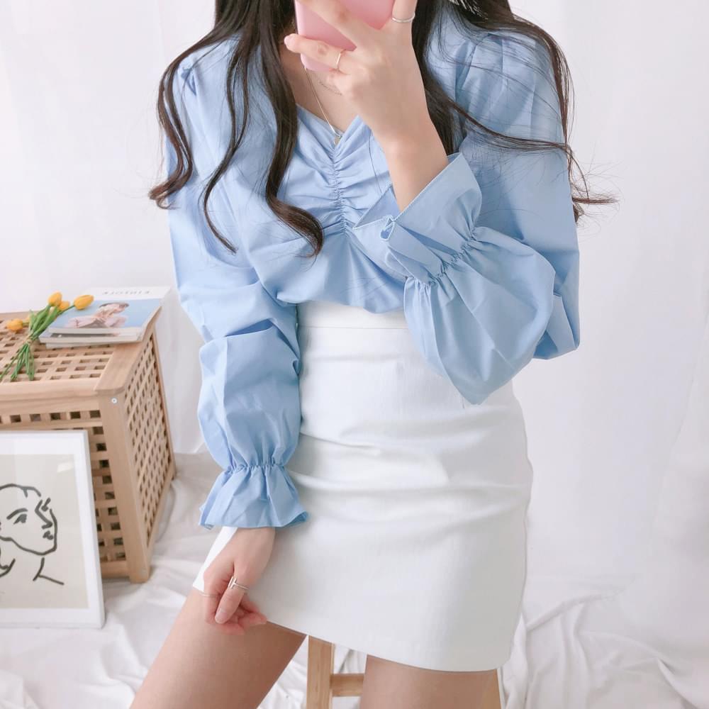 Josephine shirring blouse