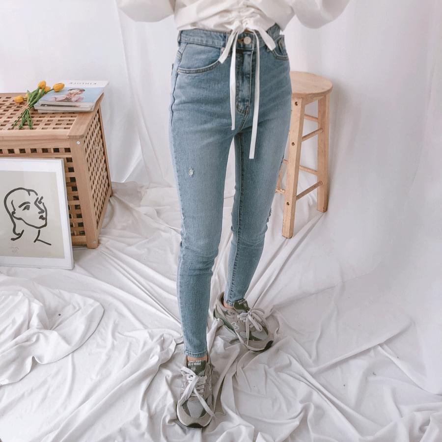 8055 Damage Skinny Jeans jeans