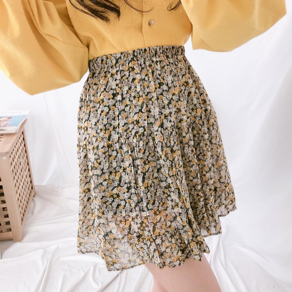 Cancan floral mini skirt skirt