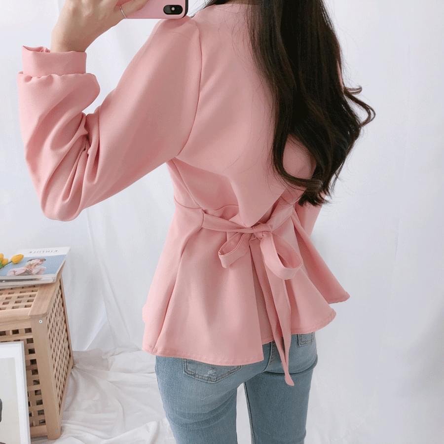 Full Square Back Ribbon Blouse blouses