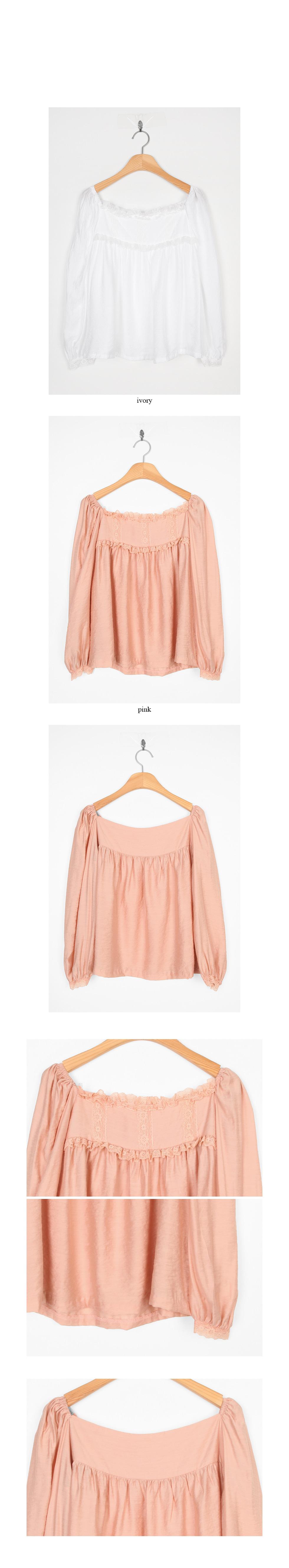 square neck pure blouse