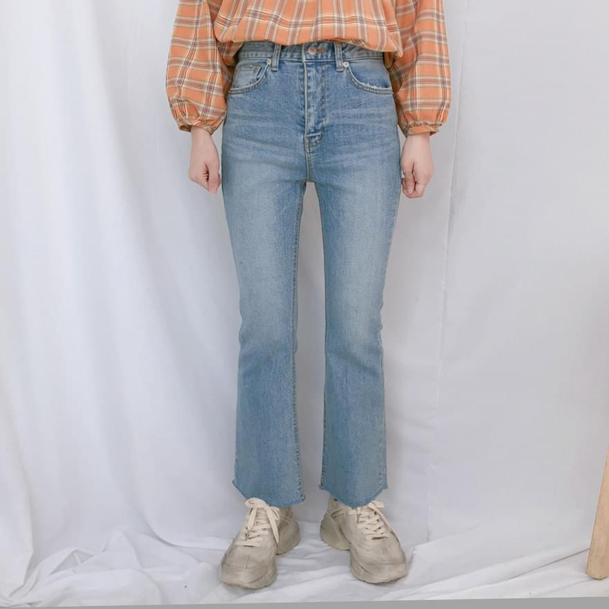 9046 slim bootcut denim pants jeans