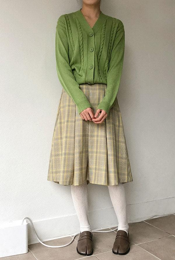 Classic check midi skirt 裙子