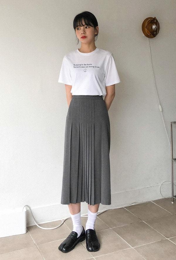 Accordion middle skirt 裙子
