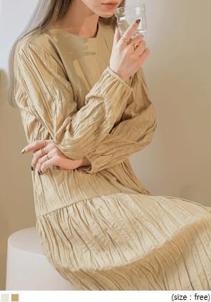 BENE WRINKLE STRING LONG OPS 洋裝