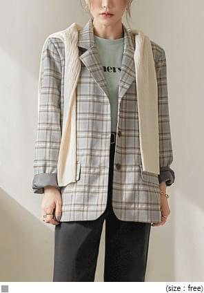 NONA CHECK SINGLE JACKET