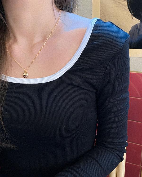 Volume Mini Heart Necklace