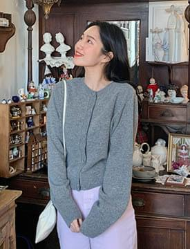 Melody round basic cardigan_C (울50%) (size : free)