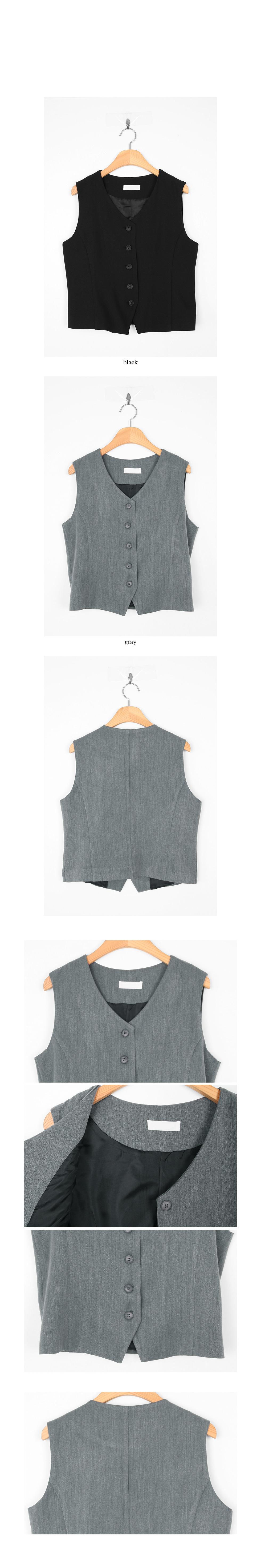 retro clean cotton vest