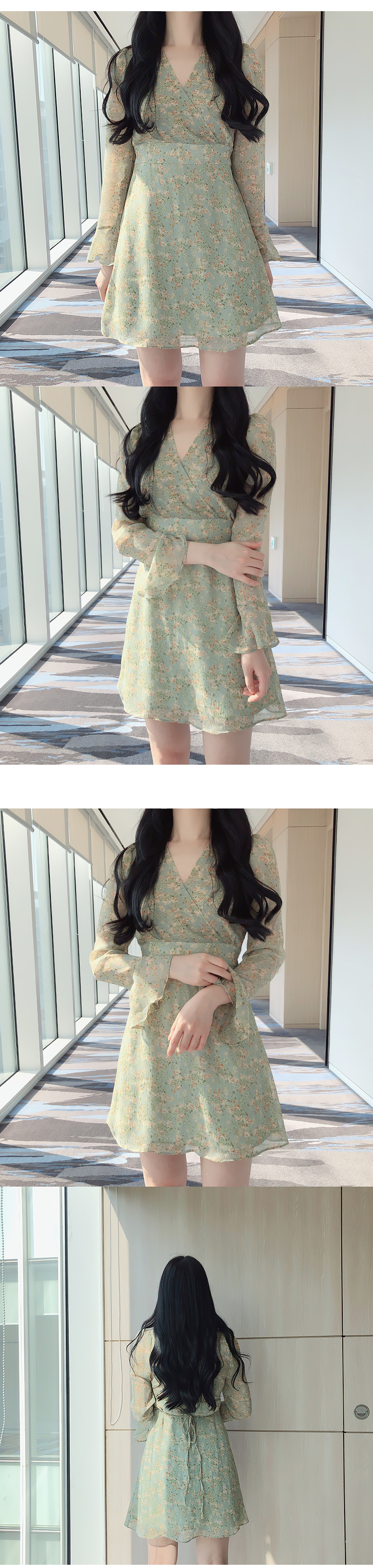 Vis Flower Wrap Dress