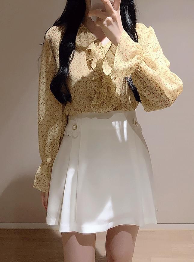 신상할인♥비쥬 레이스 진주스커트(화이트,블랙)