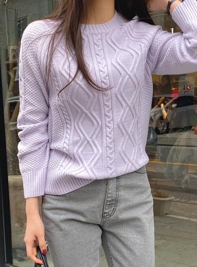 Knit pattern round ニット