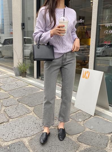 Gray line pants デニムパンツ