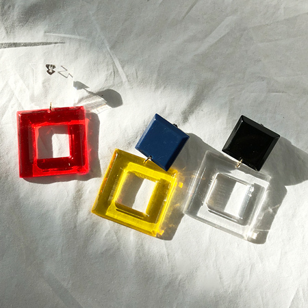 Square acrylic earrings