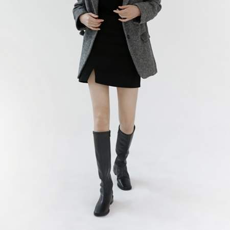 Slit mini skirt