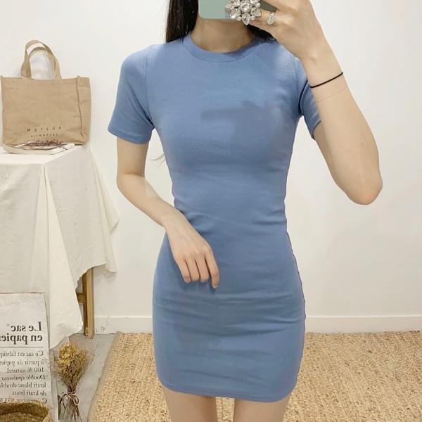 Halifax Round Neck Short Sleeve Mini Dress